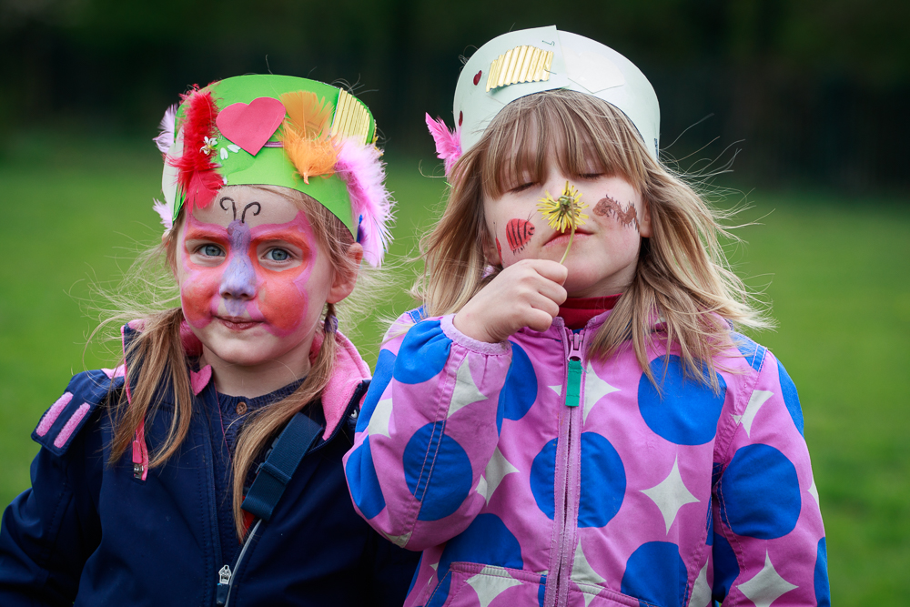 open day, perivale wood, facepainting